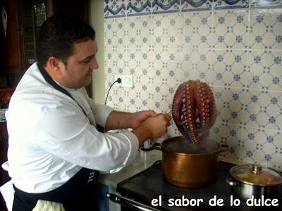 cociendo pulpo